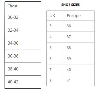 Womens-Chest-and-Shoe-Sizes
