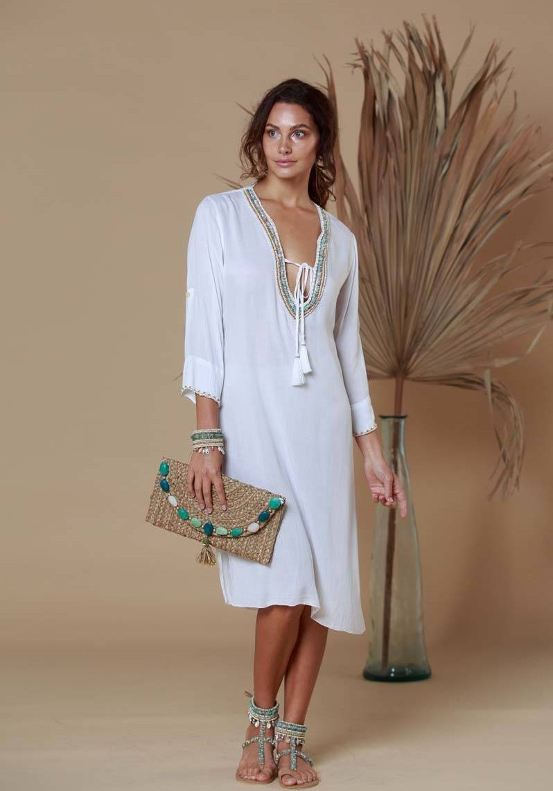 PALM SPRINGS10. A21599 Tunic Indy Ivory Mint (34)
